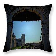 Pisa Square Throw Pillow