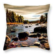Piscataquis River Dover-foxcroft Maine Throw Pillow