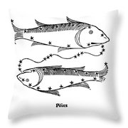 Pisces Constellation Zodiac Sign 1482 Throw Pillow by Science Source