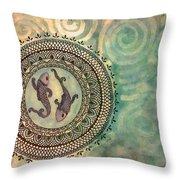 Pisces Mandala Throw Pillow