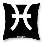 Pisces Zodiac Sign White And Black Throw Pillow