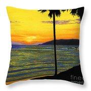 Pismo Beach California Sunset Throw Pillow