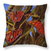 Pismo Monarchs Throw Pillow