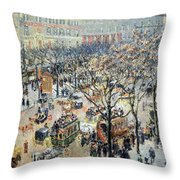 Pissarro's Boulevard Des Italiens In Morning Sunlight Throw Pillow