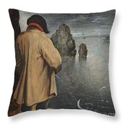 Pissing At The Moon  Throw Pillow by Pieter the Younger Brueghel