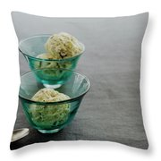 Pistachio Semifreddo Throw Pillow