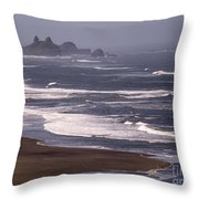 Pistol River Beach Throw Pillow