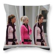 Pit Lane Girls Throw Pillow