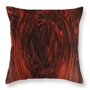 Pit Of Fire Throw Pillow