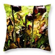 Pitcher Plant Abstraction Throw Pillow