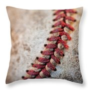 Pitchers Stitches Throw Pillow
