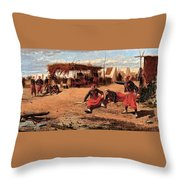 Pitching Quoits Throw Pillow