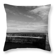 Pitenweem Harbour Wall Throw Pillow