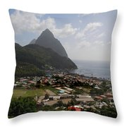 Pitons St. Lucia Throw Pillow
