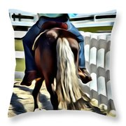 Pitter Pat Throw Pillow