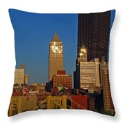 Pittsburg At Dusk Throw Pillow