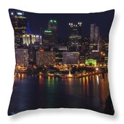 Pittsburgh After The Setting Sun Throw Pillow