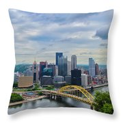 Pittsburgh And Above Throw Pillow