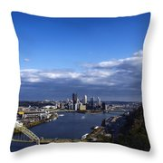 Pittsburgh At Dusk Throw Pillow