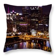 Pittsburgh At Night Throw Pillow
