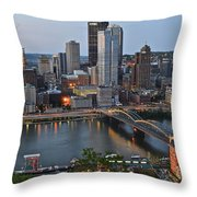 Pittsburgh Before Sunset Throw Pillow
