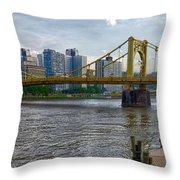 Pittsburgh Clemente Bridge Throw Pillow