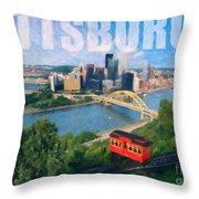 Pittsburgh Digital Painting Throw Pillow