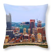 Pittsburgh From Grandview Throw Pillow