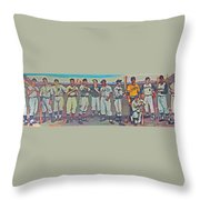 Pittsburgh Mural Throw Pillow