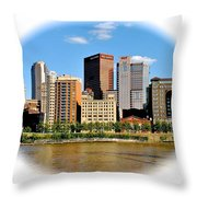 Pittsburgh Pa In The Spotlight Throw Pillow