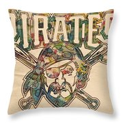 Pittsburgh Pirates Poster Vintage Throw Pillow