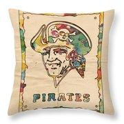 Pittsburgh Pirates Vintage Art Throw Pillow