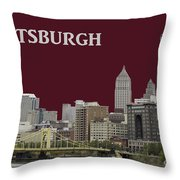 Pittsburgh Poster Throw Pillow
