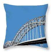 Pittsburgh Skyline 16th St. Bridge - Slate Throw Pillow