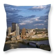 Pittsburgh Skyline At Dusk Throw Pillow