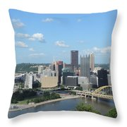 Pittsburgh Skyline From Mount Washington Throw Pillow