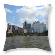 Pittsburgh Skyline From The Waterfront Throw Pillow