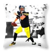 Pittsburgh Steelers Ben Roethlisberger Throw Pillow