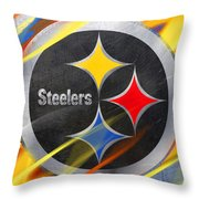 Pittsburgh Steelers Football Throw Pillow
