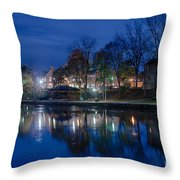 Pittsford On The Erie Canal Throw Pillow