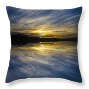 Pittwater Sunset Abstract Throw Pillow