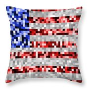 Pixel Flag Throw Pillow