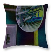Pixel Parkade Throw Pillow