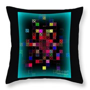 Pixel Quilt Throw Pillow