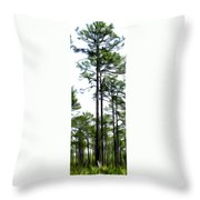 Pixelated Pine Throw Pillow