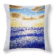 Pixelated Sunset Throw Pillow