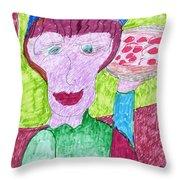 Pizza Anyone Throw Pillow by Elinor Rakowski