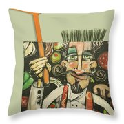 Pizza Chef Quickfire Throw Pillow