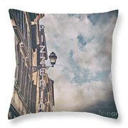 Pizzeria Sign In Italy Throw Pillow