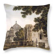 Pl. 18 A View Of The Mosque Throw Pillow